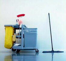 cleaning services for shops, offices, schools, hotels and other businesses and organisations